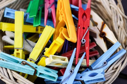 Colourful pegs. Currie Road, August '13.