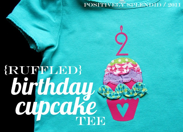 Cute appliqued tee or onesie!: Silhouette Projects, Gifts Ideas, Birthday Shirts, Birthday Cupcakes, Home Decor, First Birthday, Cupcakes Tees, Birthday Gifts, Ruffles Birthday