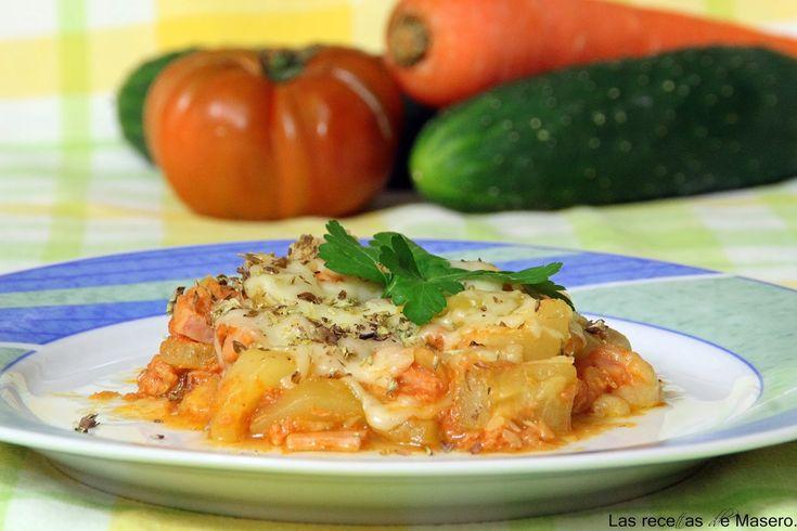 Las recetas de Masero.: Calabacín con tomate y queso.