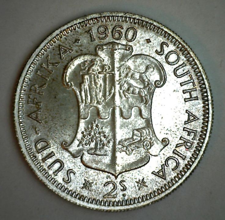 Coin: 1960 Silver South Africa 2 Shilling Coin Proof