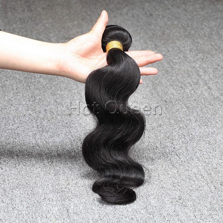 Brazilian Body Wave Human Hair Brazilian Virgin Hair 6A Unprocessed Virgin Hair Body Wave Cheap Brazilian Hair Bundles 100g/1pcs www.hotqueenhair.com