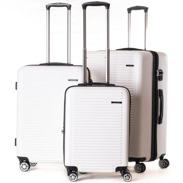 Ivory / white hard sided luggage from CalPak