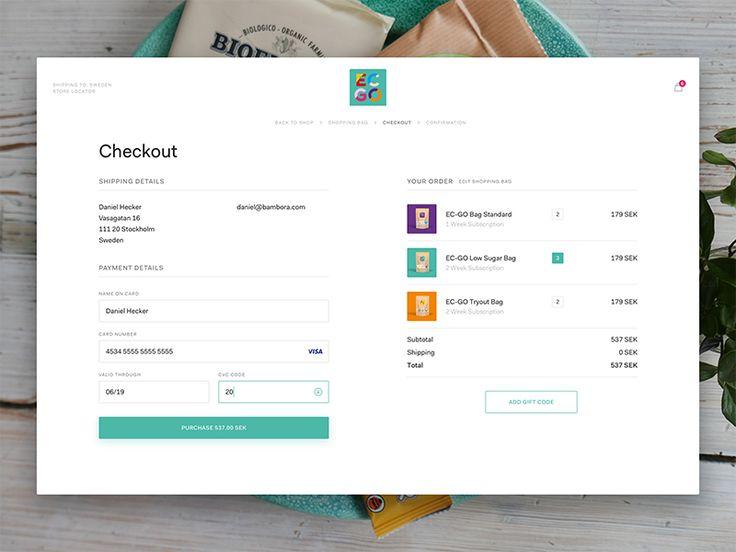 Checkout Form by Mattias Johansson