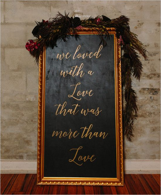 #weddingsign #EdgarAllenPoe @weddingchicks