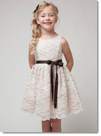 Sally - Classic lace dress, available in 5 colours.White and Ivory. in size 2 – 10 yrs