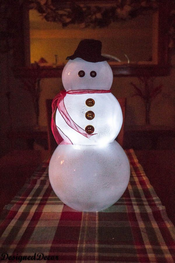 Glass Bowl Snowman | CrAfTy 2 ThE CoRe~DIY GaLoRe ...