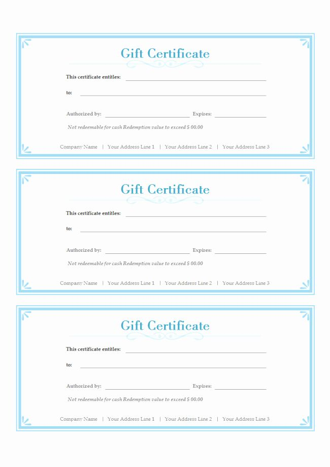 Free Gift Card Templates Inspirational Simple Gift Certificate Free Gift Certificate Template Gift Card Template Free Printable Gift Certificates