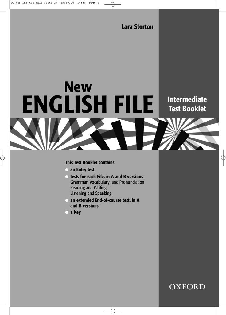 New english file intermediate tests oxford exam advanced