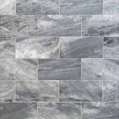 Bardiglio Honed Marble Tile - 6 x 12 - 100403443 | Floor and Decor