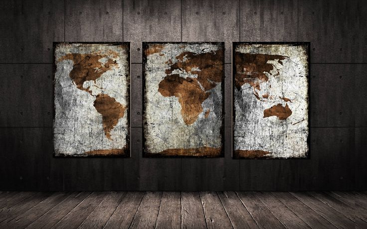 ◆ DESCRIPTION World map print, canvas art, World map canvas, Map canvas, World map, Wall art map on canvas, World map print, World map poster, Travel map ◆ ITEM DETAILS 3 Panel x 12x24 inches Total 36x24 inches. 3 Panel x 14x28 inches Total 42x28 inches. 3 Panel x 16x32 inches