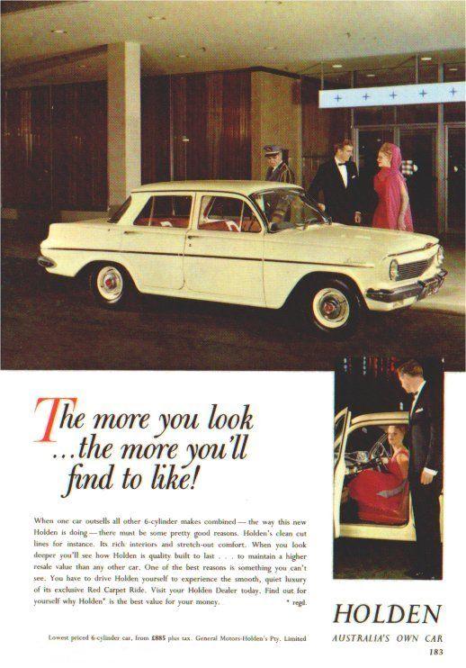 1963 Holden EJ Special Sedan. ((Poster). v@e.