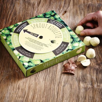 Chocolate sprout roulette - a great idea for a stocking filler #GiftInspiration @Lakelanduk