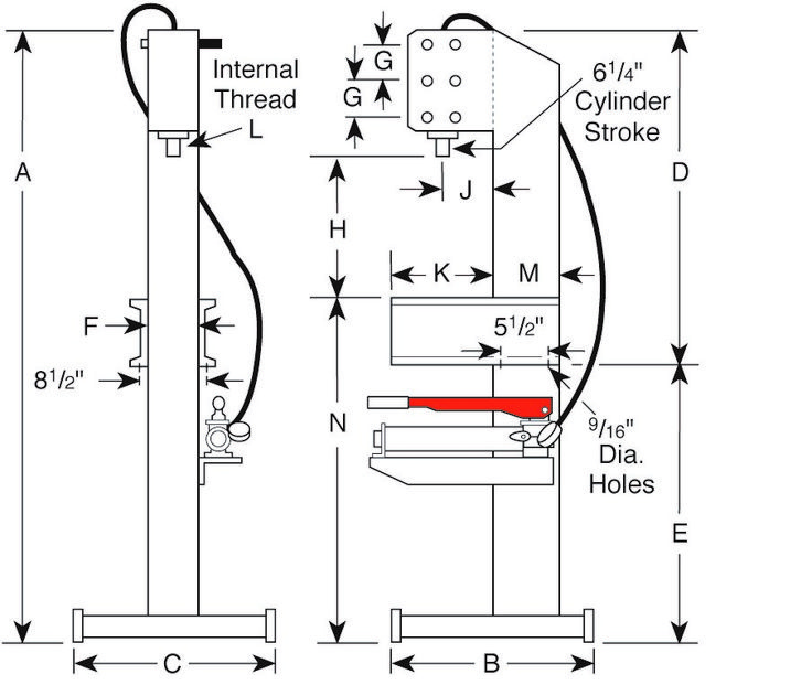 hydraulic press design calculations pdf