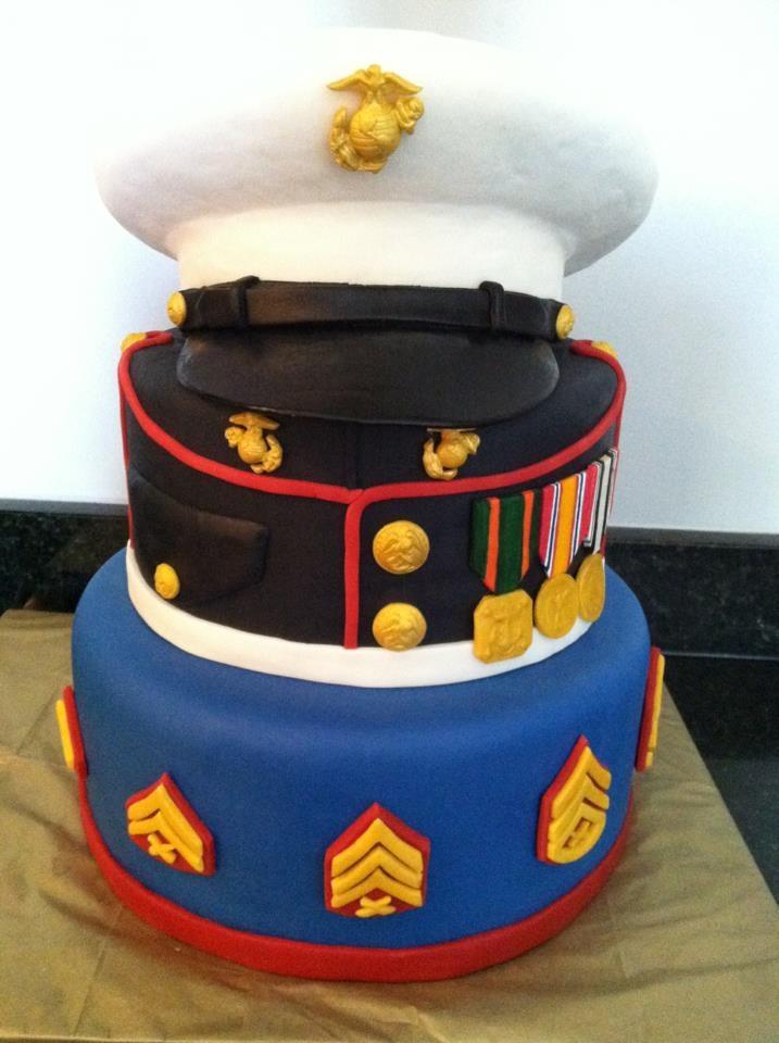 Beat this, Cake Boss!! Marine cake, Dad birthday cakes