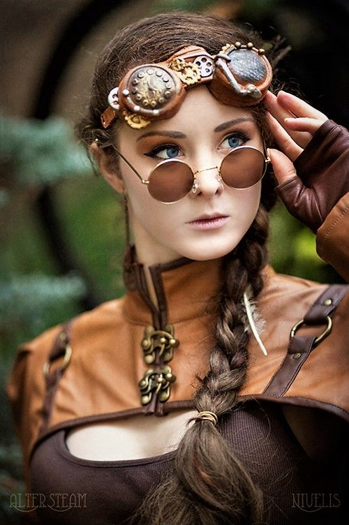 Blue Eyes Steampunk Absolutely stunning. A gorgeous gal in amazing steampunk fashion!