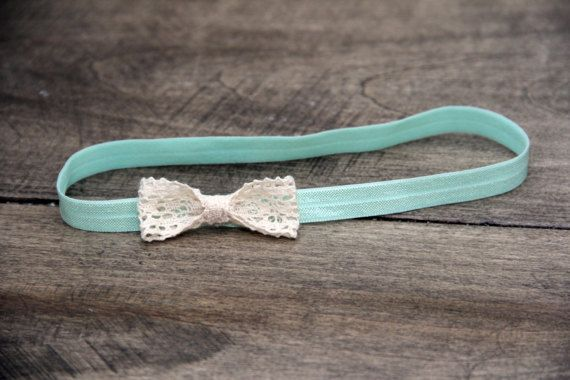 Lace Bow Headband by BabyFripperies on Etsy