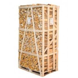 BEST BUY, XXL  2.1m Crate of Kiln Dried Hardwood Firewood Logs. Ext. dim.  2.10m (H) x 1.16m (W) x 0.83m(D)