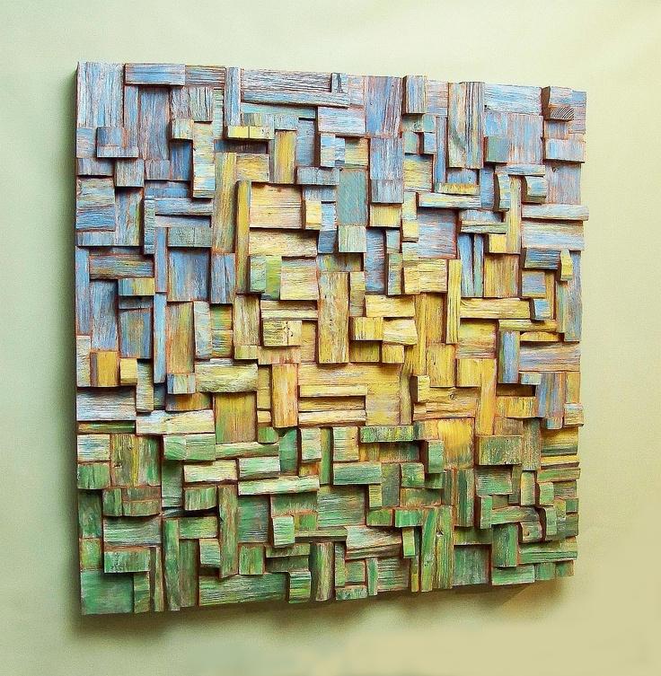 Dandelion. (2011) Watercolour on the wooden blocks Dim.: 3 x 3 feet