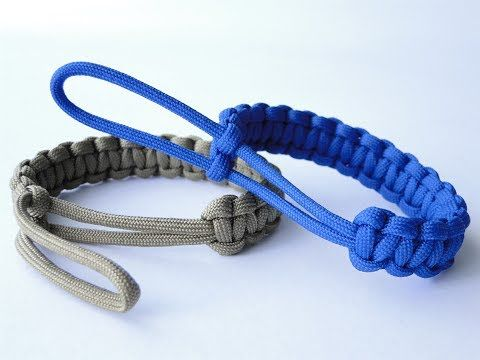 "How to Make a ""Mad Max Style"" Paracord Bracelet with the Loop as a Closure and the Clean Final Knot - YouTube"