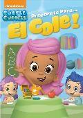 """""""Bubble guppies: ¡preparate para el cole!"""" ¡Zambúllete en el colegio con los Bubble Guppies! ¡Desde el primer día de colegio hasta cuando consiguen llevarse bien con el cascarrabias sustituto del profesor, desde el Día de la Foto escolar hasta el viaje a la biblioteca, únete a la clase en 5 días repletos de aprendizaje y risas!... Signatura: INF SER bub"""