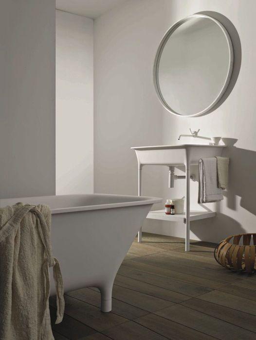 Free-standing washbasin / rectangular / Cristalplant® / contemporary MORPHING CONSOLLE: 8MP304BIBI by Ludovica & Roberto Palomba KOS