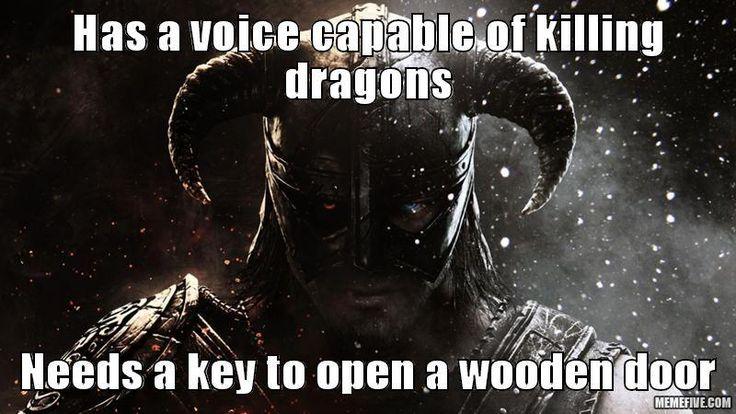 #Skyrim Voice of a Dragon...But Need a Key via reddit user clownheaven