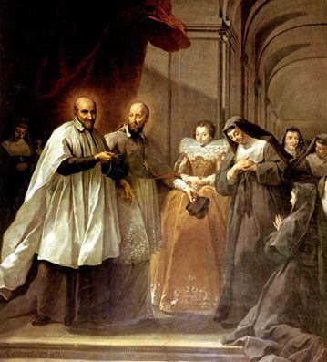 Saint of the day – August 12 – St. Jane Frances de Chantal – Patron of forgotten people; in-law problems; loss of parents; parents separated from children; widows #pinterest Jane Frances de Chantal was born in Dijon, France, on 28 January 1572, the daughter of the royalist president of the Parliament of Burgundy. Her mother died ..........| Awestruck