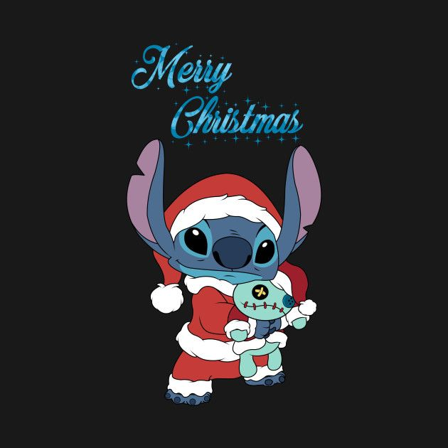 Merry Christmas Stitch Stitch T Shirt Teepublic Cute Disney Wallpaper Wallpaper Iphone Christmas Christmas Phone Wallpaper