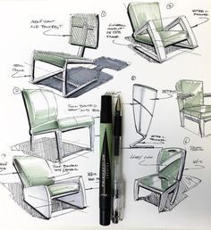 joelbellid: A quick #chair #markerdemo for my #productdesign #students…
