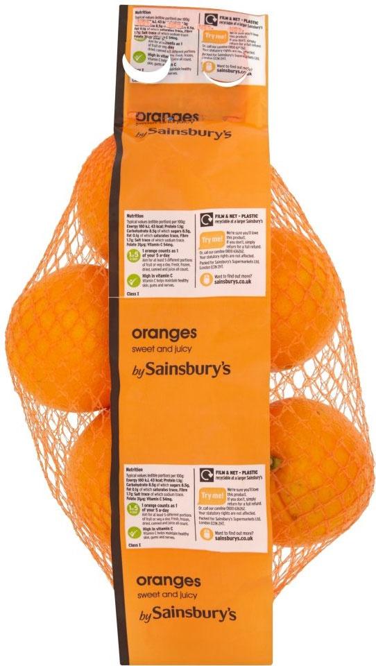 Sainsbury's Sweet & Juicy Oranges (5)