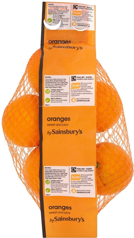 Sainsbury's Sweet & Juicy Oranges (5)
