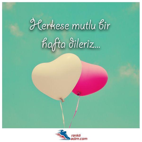 Herkese mutlu bir hafta dileriz :) #RenkliAdım #huzur #pazartesi #iyihaftalar