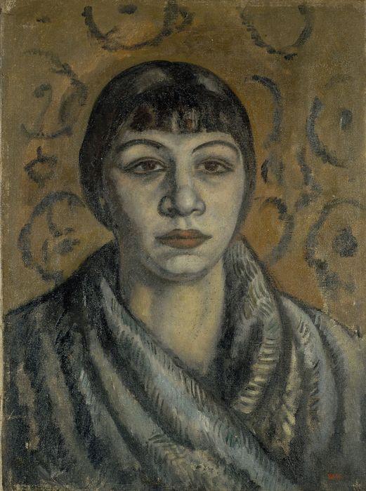 Joaquim Sunyer Sitges, 1874-1956 Portrait of Tototte Céret, 1912 Oil on canvas, 45 x 32.5 cm © Museu Nacional d'Art de Catalunya