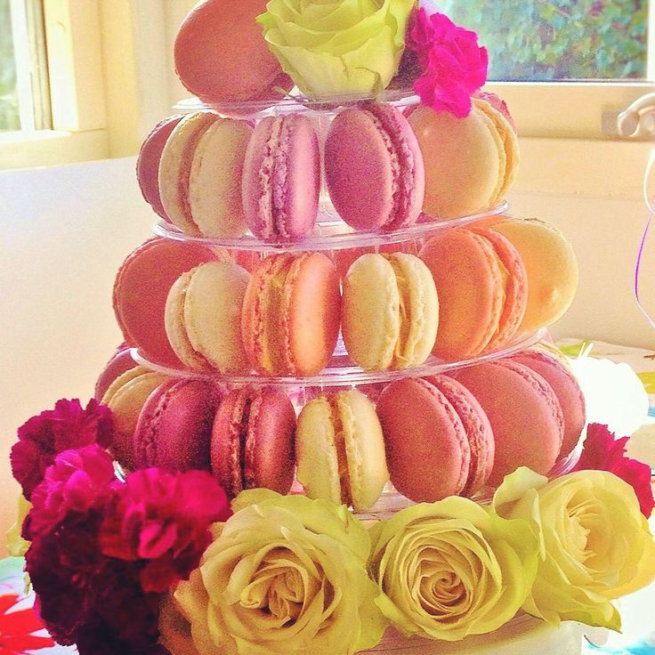 Mini macarons tower