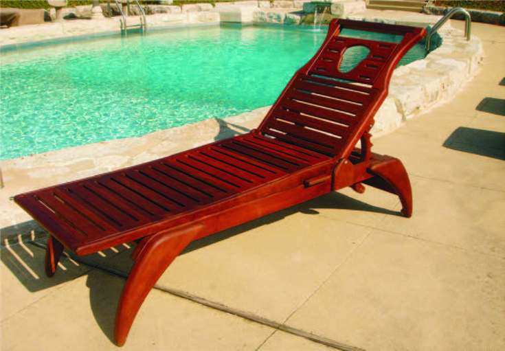 Bolounge Ipe Wood Chaise Lounge Furniture Outdoor