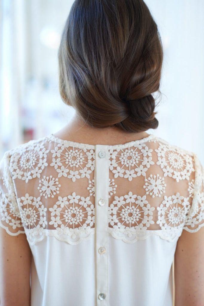 Romantisches Shirt mit Spitze – Vanessa Bepunkt