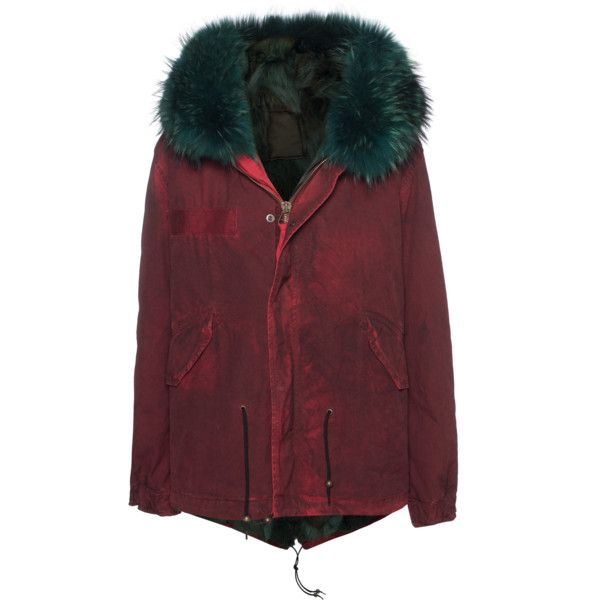 MR & MRS ITALY Miniparka Patch Coyote Red // Parka with fur lining (35 420 SEK) ❤ liked on Polyvore featuring outerwear, coats, hooded coats, fur lined hooded coat, fur lined parka, fur hooded coat and red fur coat