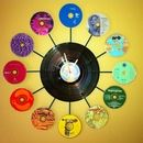 Music(less) Clock - Recycle old records and CDs for this genius eco-friendly craft.