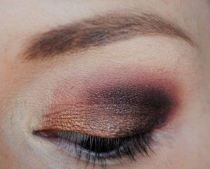 Bronze/brown smokey eye tutorial