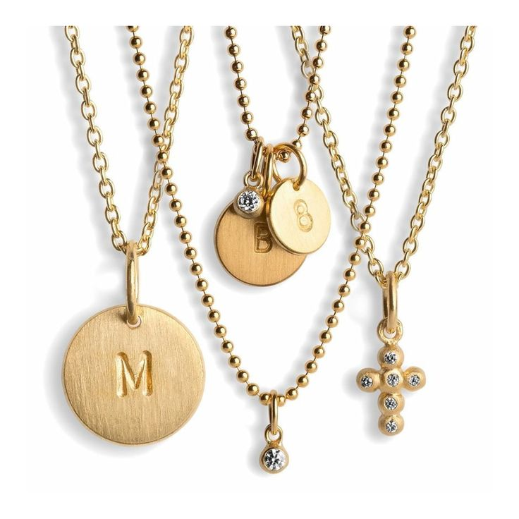 Matching different chains and pendants  JEWELRY >> http://www.janekoenig.com/necklaces.html