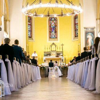 Dekoracja kościoła woal lampiony