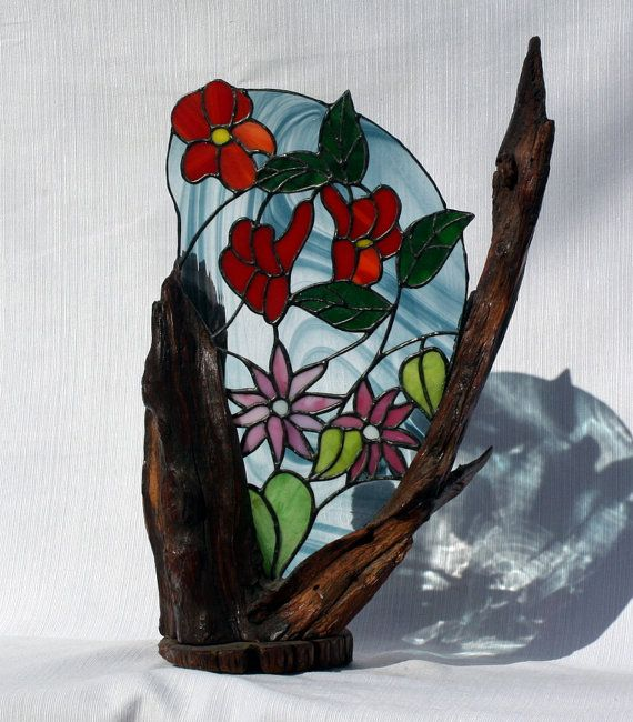 51 best images about stained glass driftwood shells on for How to make stained glass in driftwood
