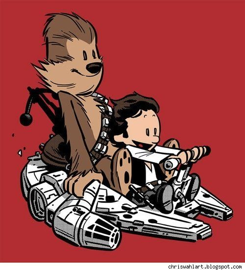 Calvin & Hobbes mash-up Several fan art pieces using other characters in place of C, including Lex Luthor and The Joker, Han and Chewie, and He-Man and Cringer