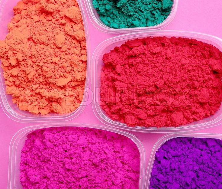 Stock image of 'Celebration. Powder for Holi festival'