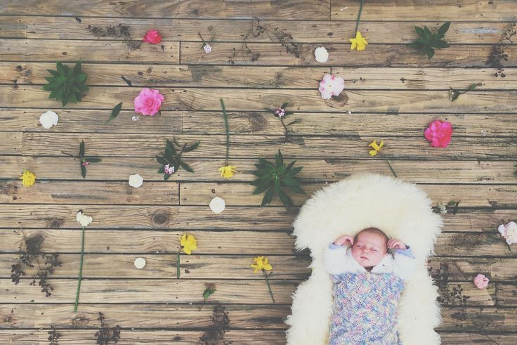 After walking around the garden for an hour to get this little lady to sleep I had some fun! #firstdayofspring #onemonthold