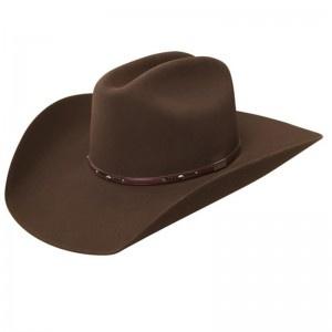 Resistol Mens Palo Duro Acorn Felt Cowboy Hat