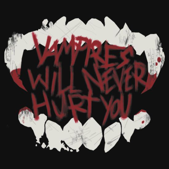 MCR Vampires Will Never Hurt You Teeth logo by House-Of-Wolves racerback