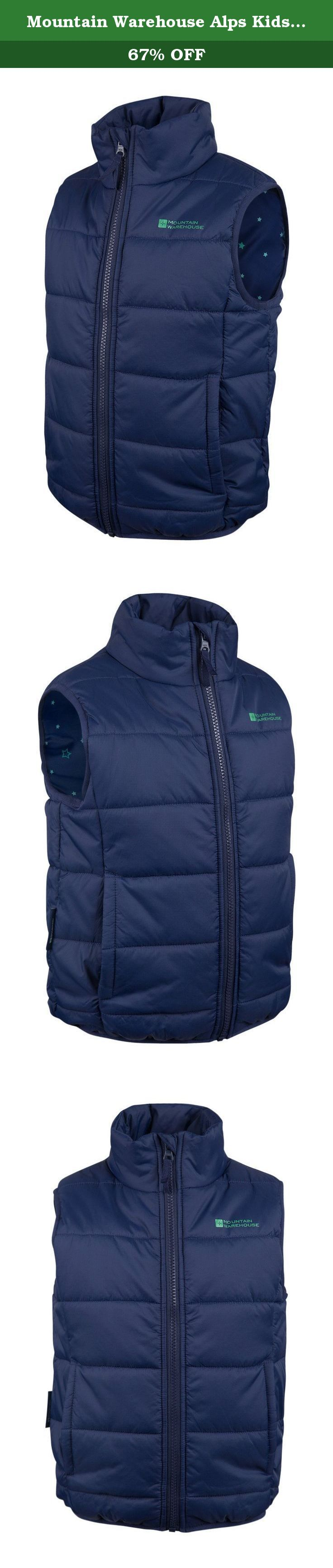 Mountain Warehouse Alps Kids Padded Bodywarmer Navy 11-12 years. Padded water-resistant and stylish, the Alps Kids Padded Gilet is perfect for layering up your child's outfit. Designed in durable water-resistant fabric with microfibre filling for extra warmth, this versatile and stylish gilet is great for active kids. Water-resistant - This garment has a waterproof coating to make the fabric water-resistant. Perfect for light showers and everyday use Padding - Microfibre filling provides...