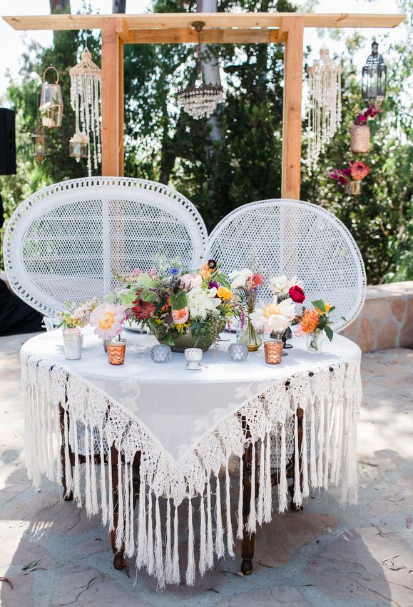 sweetheart table. bohemian wedding. bohemian wedding decor. boho wedding ideas. leo carrillo ranch wedding. dainty lion.