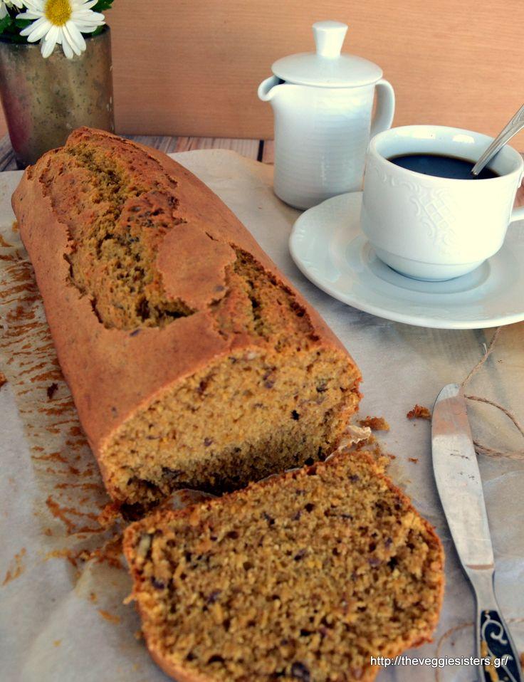 Αφράτο κέικ κολοκύθας με μυρωδικά κ καρύδια Pumpkin Cake